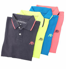 Aeropostale Men Solid Pique Logo A87 Polo Shirt Style School Uniform $0 FreeShip