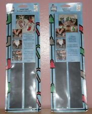 ALLERY GLASS Instant Lead Stockings & Candy Canes or Trees & Bulbs Adhesive