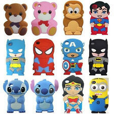 3D Cute Cartoon Super Hero Silicone Cover Case For ipod Touch 4 4th gen 5th gen
