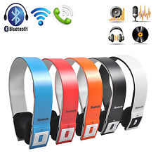 Wireless Bluetooth Headset Stereo Headphone for HTC iPhone Cell Phone Laptop PC