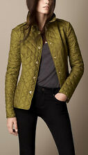 NWT Burberry BRIT Diamond Quilted Jacket Lime Chartreuse XS S M L SOLD OUT