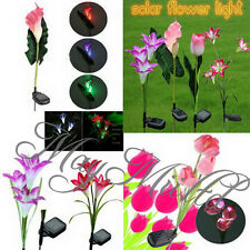 Lily/Calla/Tulip Solar LED Color Changing Flower Garden Path Light Lawn Lamp W