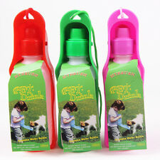 1PC Portable Pet Dog Puppy Cat Travel outdoor Water Bottle Bowl Drink Fountain
