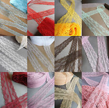 VINTAGE Ivory White Peach LACE RIBBON 40mm BRIDAL Classic decor florist per Yard