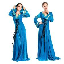 Hofadel Renaissance Medieval Queen Costume Cosplay Dress Gown Hoodie Halloween
