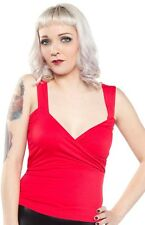 Women's Sourpuss Tiki Party Top Red Retro Vintage Rockabilly Pinup
