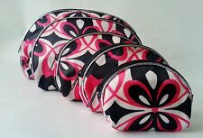 SET OF 5 COSMETIC/TOILETRIE CASE/ MAKEUP BAGS GREAT SIZES PERFECT FOR STORAGE