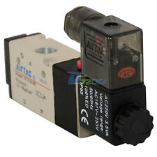 "BSP 1/4"" 3 way 2 position Solenoid Valve Air DC/AC Pneumatic Electric 5sizes new"