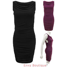 WOMENS LADIES SLEEVELESS SEXY SUMMER PARTY COCKTAIL BODYCON STRETCH DRESS