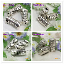 DIY Jewelry Making Findings Antiqued CCB Silver Plated Acrylic Beads Spacer