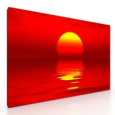 Large Sunset Seascape Canvas Picture Print Artwork 20x30 Wall Art Living Room