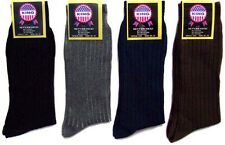 "New Wholesale Lot 1Dz ""King"" Mens Cotton Ribbed Dress Socks In Color (# EHS1415)"