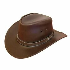 LEATHER COWBOY WESTERN AUSSIE STYLE BUSH HAT