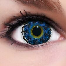"Circle Lenses ""Diamond Blue"" Coloured Contacts Color Contact Lenses  + Free Case"