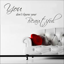 One Direction you dont know your beautiful Song Lyrics a Vinyl Wall Art Sticker