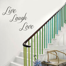 Live Laugh Love a Vinyl Wall Art Sticker Very Big in Red Green Pink Blue Colour