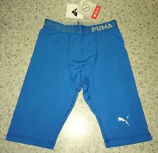 NEW Mens S PUMA PB Tech ACTV Endure Tight Compression Training Shorts Blue $80