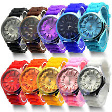 Unisex Hot Silicone Quartz Sports Style Watch Men Women Jelly Wrist Watch