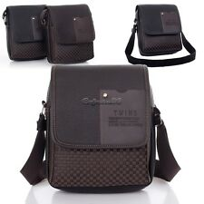 Men's Genuine Leather Messenger Bag Handbag Brown Briefcase Laptop Shoulder Bag