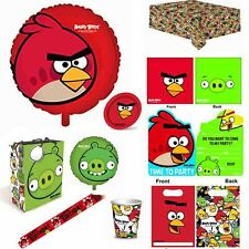 Angry Birds Birthday Party Tableware Cups Plates Banners Loot bags Tablecloth