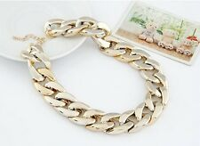 NEW Punk Style Chunky Curb Chain Shiny Fashion Choker Necklace, 3 Colors