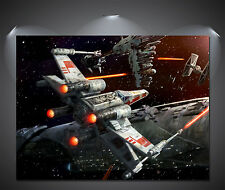 Star Wars X Wing Fighter Poster - A0, A1, A2, A3, A4 Sizes