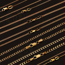 9Kt 9Ct SOLID Yellow Gold Curb Necklace Chain 1-3.5mm 45/50/55/60cm CG