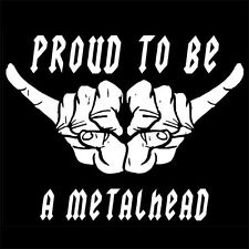 PROUD TO BE A METALHEAD (metal sign horns up dvd book cd poster vintage) T-SHIRT