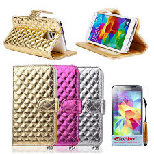 New Vernis PC Hybrid Wallet Flip Stand Case Cover For Samsung Galaxy S5 i9600