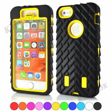 Tyre Tread Soft Rubber Hard Plastic High Impact Combo Case Cover for iPhone 5 5S