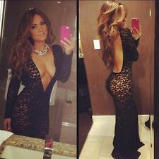 Hot sale Europe and America Lindy Sexy nightclub All lace dress