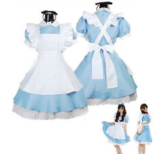 New Anime Alice in Wonderland Sexy Cosplay Girl Lolita French Maid Costume Dress