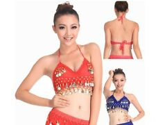 13 Colors for chose hand made New Sexy Folded lace Coins Belly Dance Bra Top F