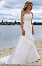 New Stock white/ivory wedding dress Gown Bridal Gown Custom Size;6-8-10-12-14-16