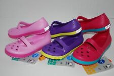 NWT CROCS CROCBAND AIRY HEARTS FLAT PINK PURPLE 8 9 10 11 12 13 shoes MARY JANE
