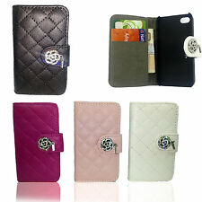 Magnetic Designer Diamond Leather Book Flip Wallet Case Cover For Samsung Galaxy
