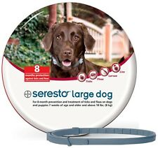 Seresto Flea & Tick Collar for Large Dogs + 2 Worming Tablets gratis