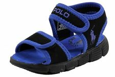 Polo Ralph Lauren Toddler Boy's Tide Fashion Black/Royal Sandal Shoes