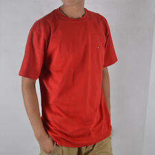 NWT Men's TOMMY HILFIGER Short Sleeve Crew Neck Tee Red T Shirt Sz XS - 2XL