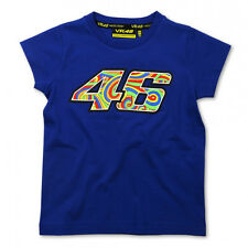 Valentino Rossi VR46 Large 46 Moto GP Kids T-shirt Blue Official New