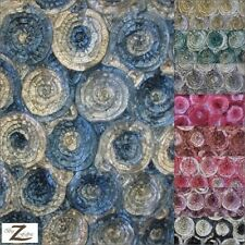 "2 TWO TONE ROSETTE TAFFETA FABRIC - 11 Colors - 54"" WIDTH SOLD BY THE YARD"