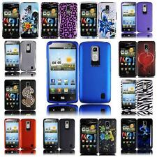 For LG Spectrum VS920 Hard Snap on Two Piece Cover Case + LCD Screen Guard