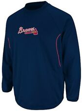 Atlanta Braves Majestic Authentic Therma Base Tech Fleece Navy Big & Tall Sizes