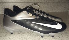 New Mens Sz 13 NIKE Zoom Vapor Pro Low D Black Silver Detachable Football Cleats