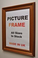 Mahogany Distress Picture frame with Gold Lip 55mm wide, All Sizes|Picture Frame