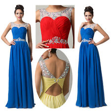 On Sale~Stunning Wedding Evening Bridesmaid Prom Formal Party Long Gowns Dresses