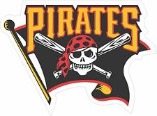 MLB PITTSBURGH PIRATES JOLLY ROGER 5 year outdoor vinyl decal sticker 4 sizes