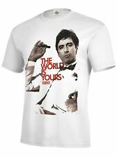 Mens Scarface The World Is Yours T Shirt White