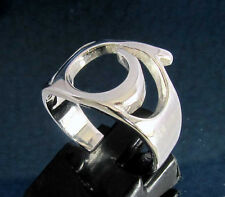Ring with Greek Letter Sigma Symbol Initial - Sterling Silver 925 custom size
