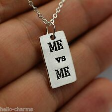 ME vs ME Charm Chain Necklace p90x Gym crossfit workout pendant insanity fitness